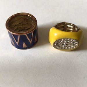 2 enamel rings